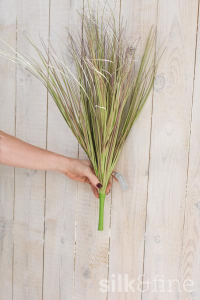 Kunstzweig | Gras grün-lila | L: 66cm