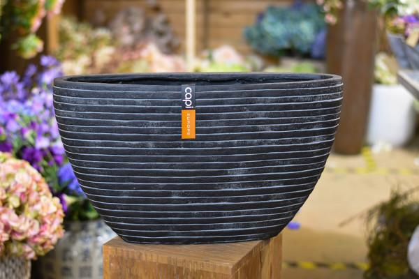 Capi polystone breit, schwarz mit Streifen