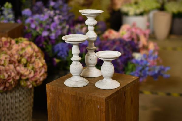 Kerzenständer 3er-Set weiss