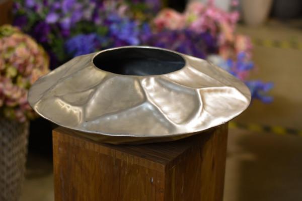 Topf Ufo-Style, metall silber