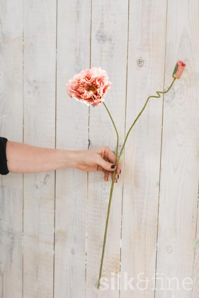 Kunstblume | Mohn peach | 75cm