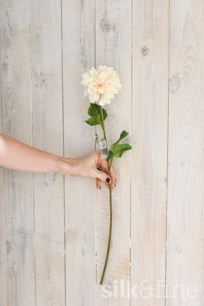 Kunstblume | Dahlie créme-rose | L: 61cm