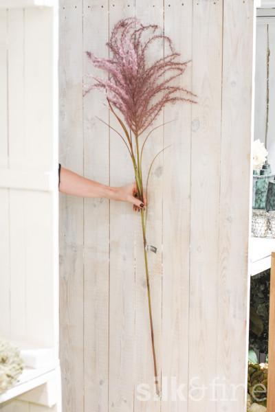 Kunstzweig | Pampasgras lila | L: 134cm
