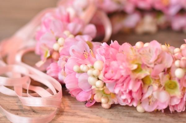 Silk&Fine Blumenkranz | rosa, pink