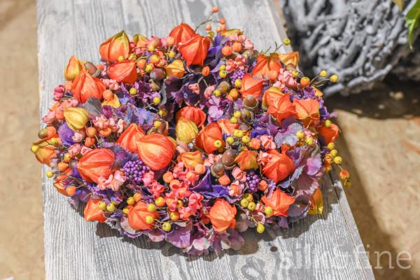Dekokranz Herbst | orange-lila