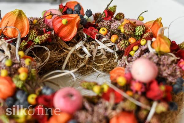 Silk&Fine Dekorations-Blumenkranz | Herbst