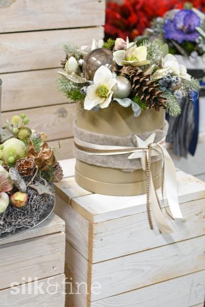 Blumenbox Advent, weiss | Silk&Fine