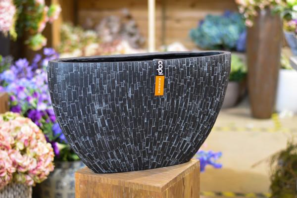 Capi polystone breit, schwarz und bemustert
