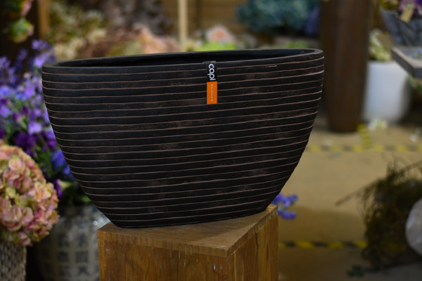 Capi polystone breit, braun mit Streifen