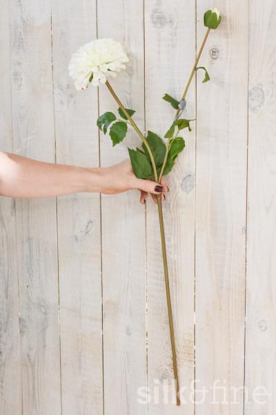 Kunstblume | Dahlie weiss| L: 87cm