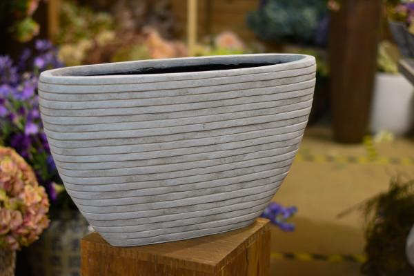 Capi polystone breit, weiss mit Streifen