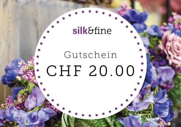 Geschenkgutschein CHF 20.00 | Silk&Fine
