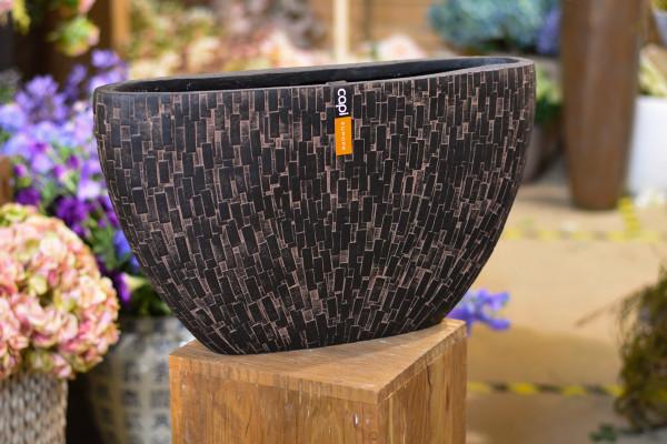 Capi polystone breit, braun und bemustert