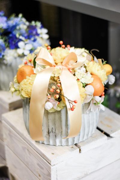 Gelbes Blumengesteck | silk&fine