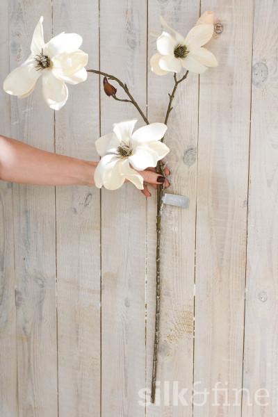 Kunstblume | Magnolie créme-shiny | L: 91cm