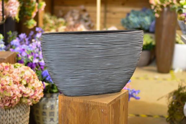 Capi polystone breit, schwarz mit Wellen