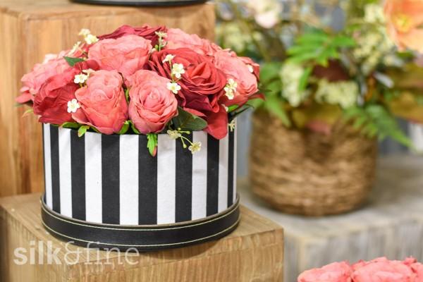 Blumenbox blassrot & rot | silk&fine