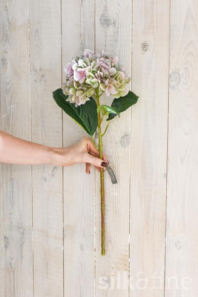 Kunstblume | Hortensie lila-grün | L: 56cm
