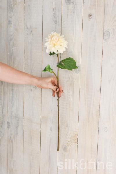 Kunstblume | Dahlie créme-weiss| L: 59cm