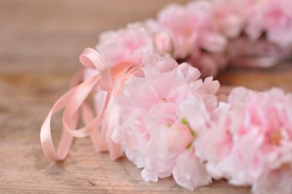 Silk&Fine Blumenkranz | rosa