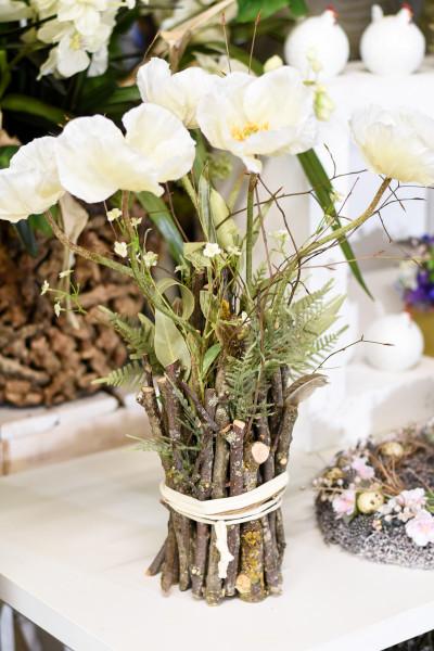 Blumenarrangement weiss | silk&fine