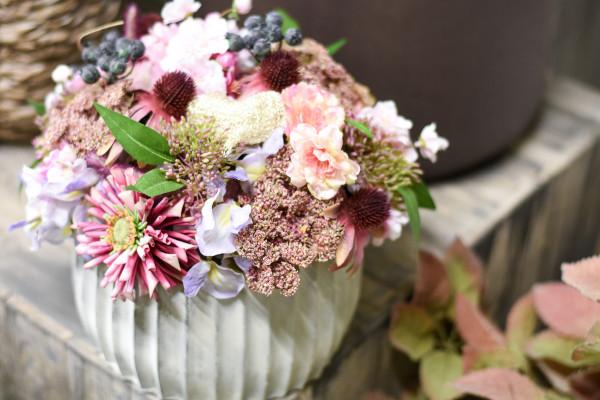 Rosa Blumengesteck | silk&fine