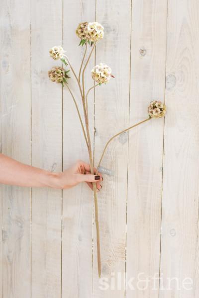 Kunstblume | Scabiosa créme verzweigt | L: 79cm